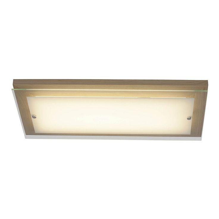 Brilliant Leuchten Hardwood LED Wand Und Deckenleuchte 57x29cm Eiche Weiss Jetzt Bestellen Unter