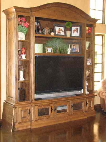 Entertainment Center With Curved Crown