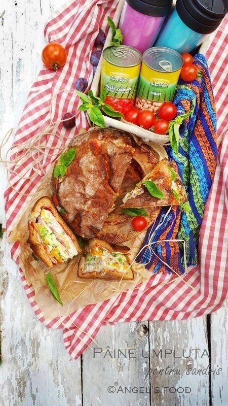 Angel's food: Paine sandvis umpluta, perfecta pentru picnic