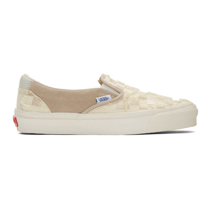 VANS VANS OFF-WHITE AND TAN BRICOLAGE CLASSIC SLIP-ON ...