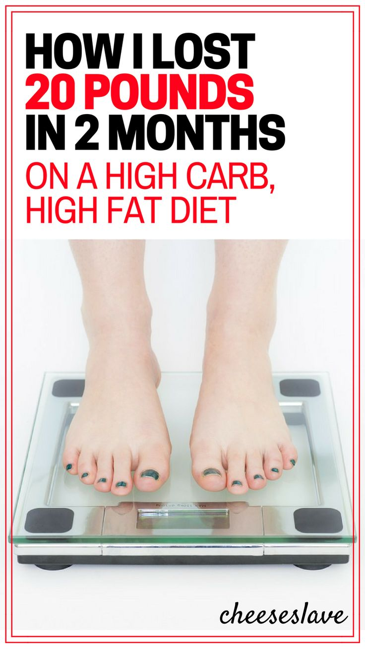 How I Lost 20 Pounds in 2 Months on a High Carb, High Fat Diet P