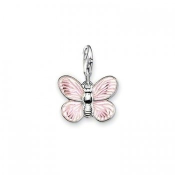 Thomas Sabo Charm Club Sterling Silver Pink Butterfly Charm