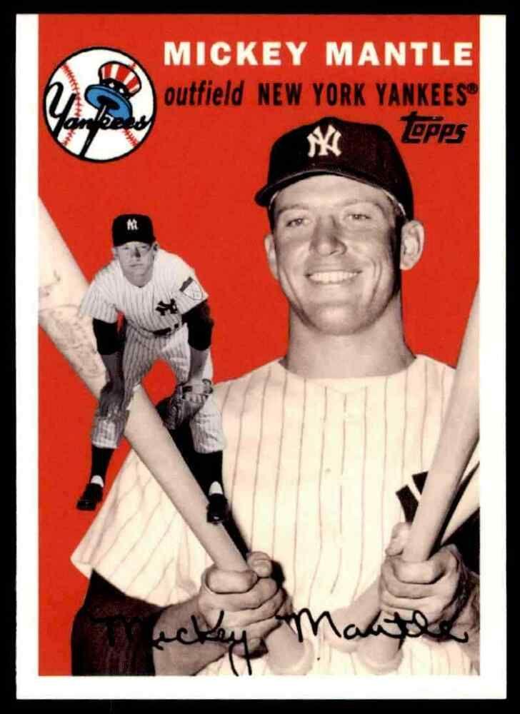 2007 Topps Baseball Mickey Mantle New York Yankees 40 Insert Newyorkyankees In 2020 Mickey Mantle New York Yankees Yankees