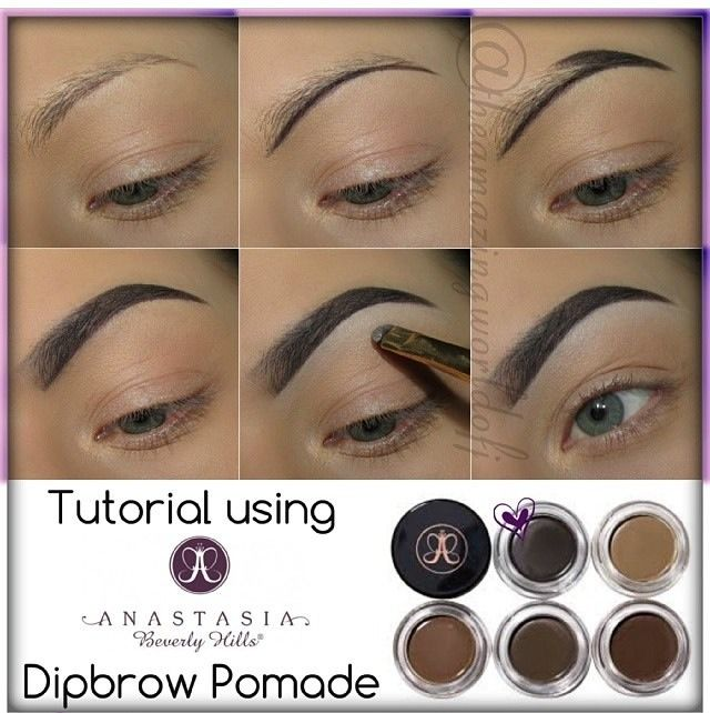 Anastasia Dip Brow Tutorial---Best Brow Filler Ever!