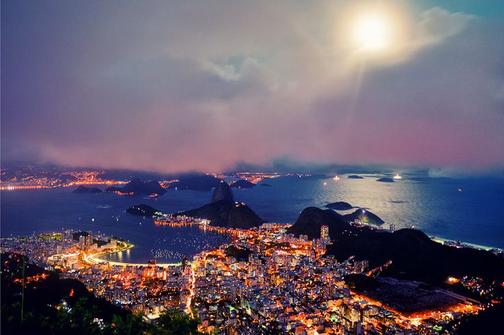Rio at Night by Isac Goulart, via 500px