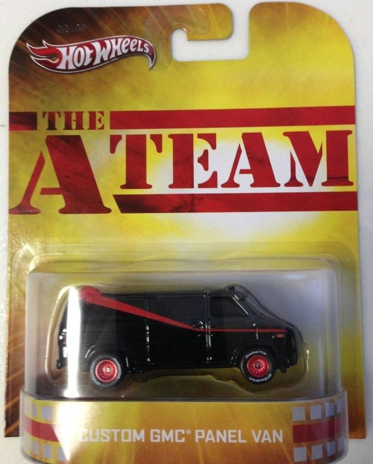 2013 hot wheels retro the a team gmc panel van scale 164 real rider tires rare - Rare Hot Wheels Cars 2013