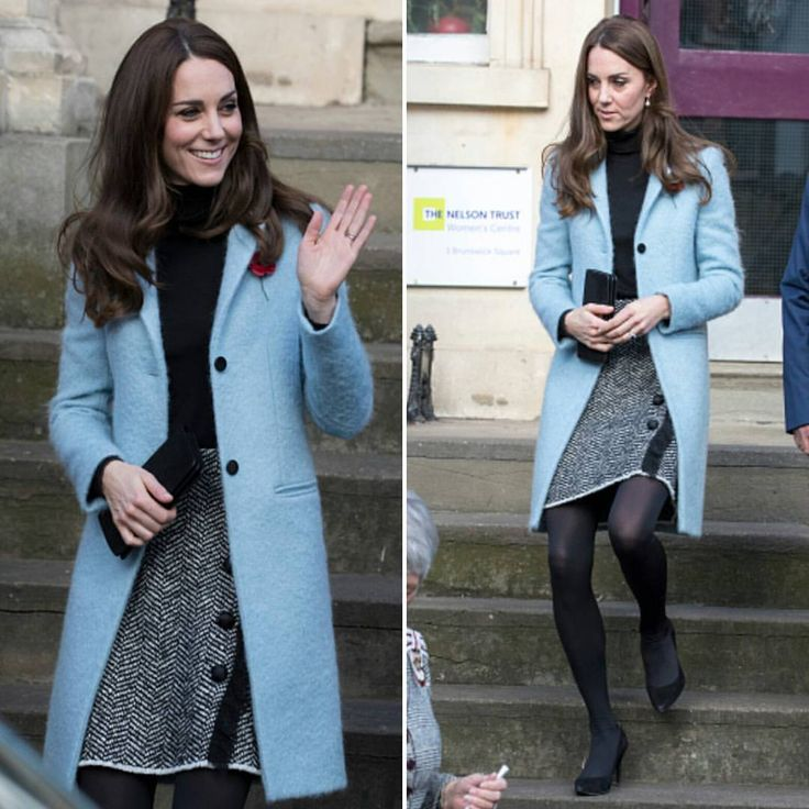 Catherine, Duchess of Cambridge visits The Nelson Trust Women's Centre in Gloucestershire, as part of her ongoing work on addiction and mental health on November 4, 2016 in Gloucester, England. The Duchess wore Mulberry Paddington Coat and Dolce & Gabbana boucle wool blend skirt.