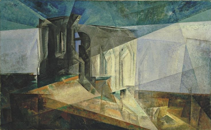thusreluctant:  Ruin by the Sea by Lyonel Feininger