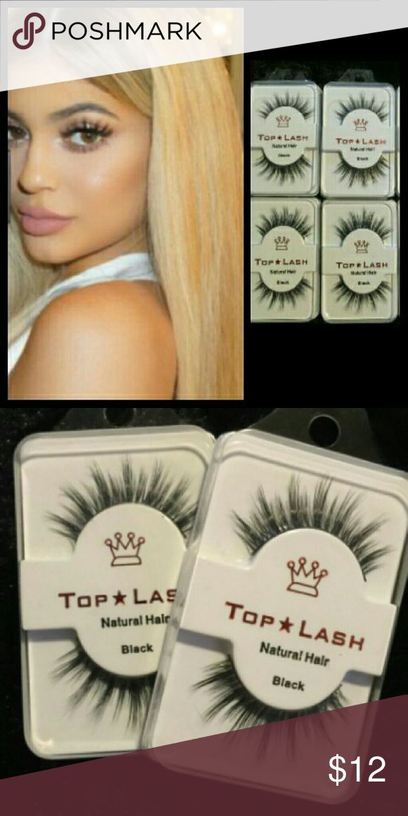 4 Pairs Mink 3D Eyelashes Top Lash Brand New  Top Lash Mink Eyelashes  It's the exact  same wispy Demi lashes With that Kylie Jenner look.  They are Reusable  You can use each set up to 15 Times !  1 pair $7 2 pairs $10 3 pairs $12 4 pairs $15 5 pairs $18    Style like Kylie,  koko, LILLY/House of Lashes / Ardel Demi Wispy/3D yet  (Price is Firm) (I only give discounts on Bundles) Makeup