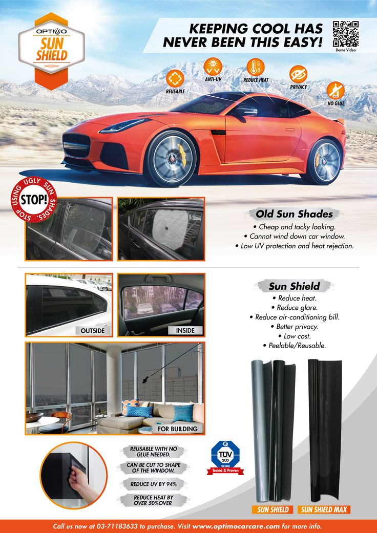 SUN SHIELD is basically an existing concept that has been refreshed and improved upon for better application. The traditional window film has been around for decades and despite it being effective in cutting heat and glare, it is also expensive and cumbersome to install.