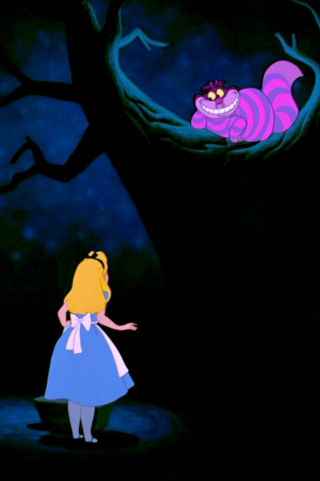Falling Down The Rabbit Hole Wallpaper Alice Amp The Cheshire Cat Alice In Wonderland Fictional