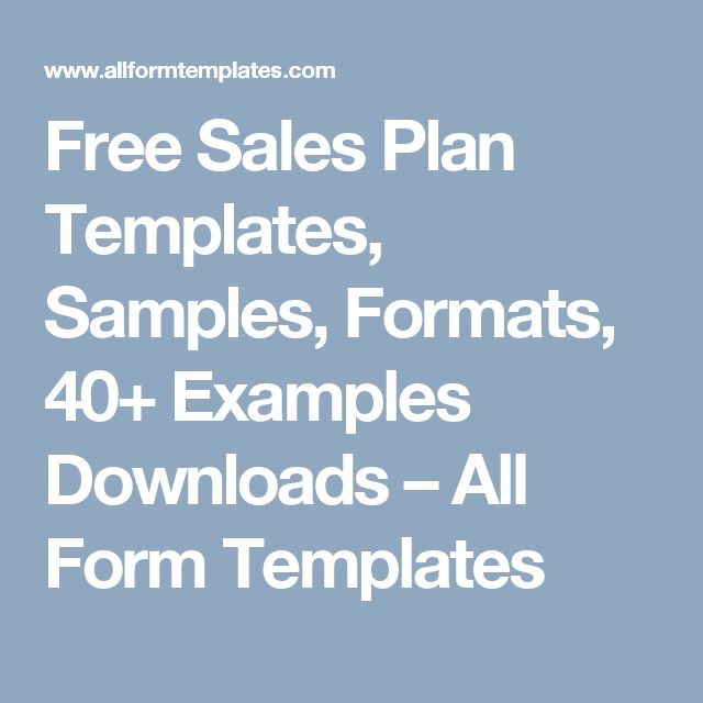 15 best sales plan template images on Pinterest - best sales plan