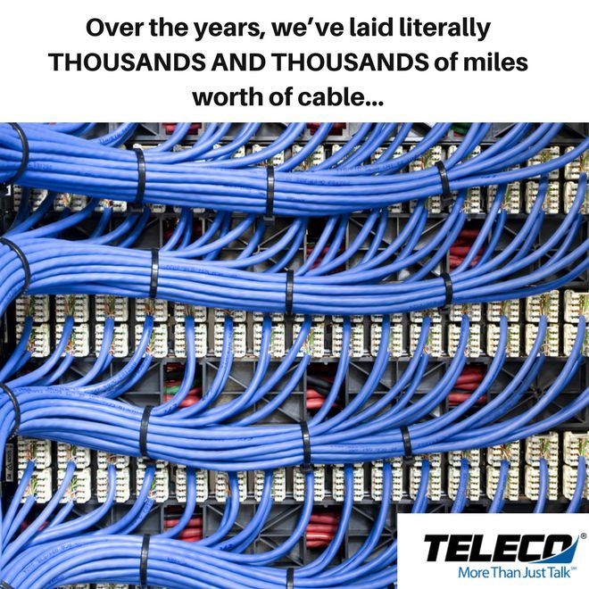 Now THAT'S a lot of cable! So no matter what your cabling/wiring job needs are... we at Teleco Augusta can help. Contact us at 706-868-9897 or go here: https://telecoaugusta.com/products-and-service/network-assessment-and-design/structured-cabling/