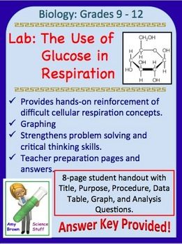 Biology Lab: The Use of Glucose in Cellular Respiration.  In this lab, we will try to determine these things:   1. Is glucose required for cell respiration?   2. Is there a correlation or relationship between the amount of sugar available and the amount of carbon dioxide produced?  3. Can any type of sugar be used as a fuel for cellular respiration?  $
