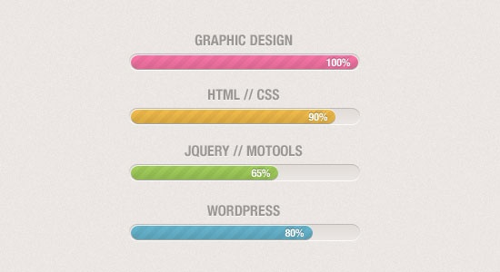 Free Download Skills Progress Bars – Vol. 1 (PSD)