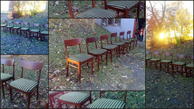 (2) FINN – 6 Spisestuestoler Retro Design Mahogni Mahogany Scandinavian Design Furniture