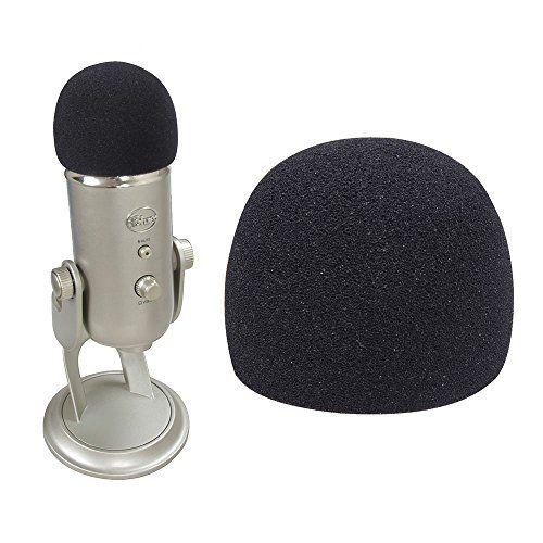 2 Pcs Foam Windscreen for Blue Microphones Yeti USB Microphone by Hermitshell