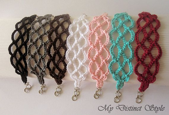 Crochet Bracelet in Black by mydistinctstyle