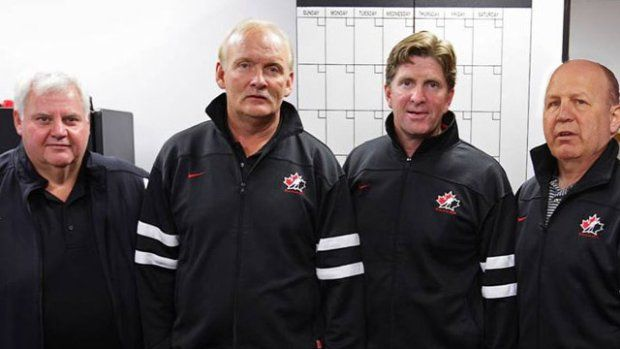 Mike Babcock, head coach of Canada's National Men's Hockey Team for 2013-14 season with Ken Hitchcock, Claude Julien and Lindy Ruff to serve as associate coaches. GREAT JOB!