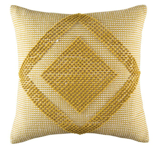 Kas Room Jelani 50x50cm Filled Cushion Mustard