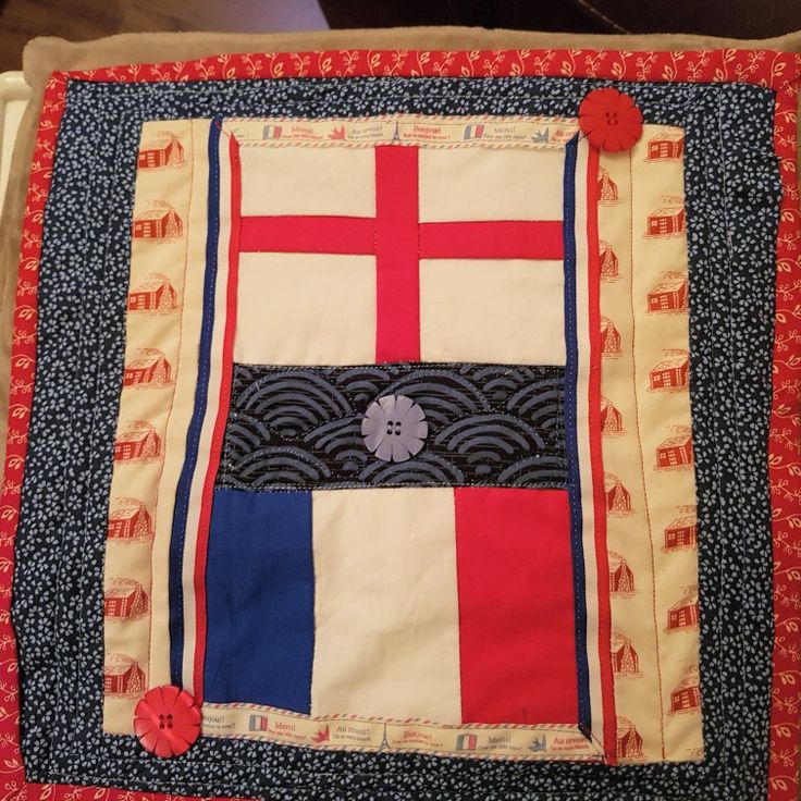 Quilted cushion.Twinning gift 2017