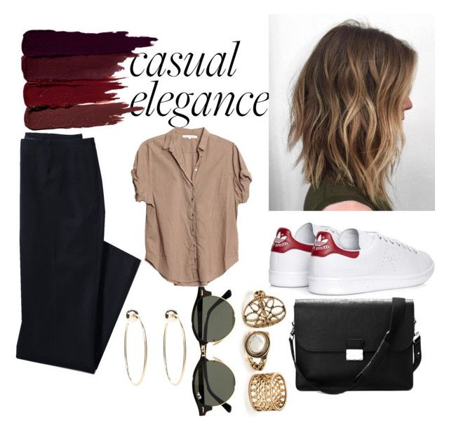 Casual Colors by jvleey on Polyvore featuring polyvore fashion style Xirena Lands' End adidas Aspinal of London Bebe Ray-Ban Serge Lutens clothing