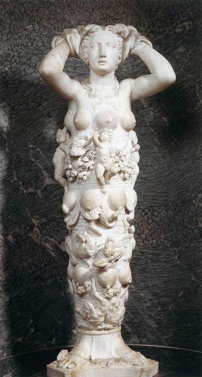 Niccolò Tribolo, The Goddess of Nature, c. 1529, marble.  Musée National du Château, Fontainebleau
