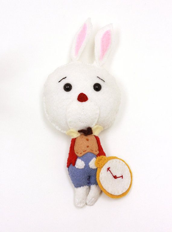 White Rabbit From Alice In Wonderland Plush By Twoelephantsshop