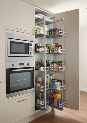 Integrated Microwave & Grill, Lamona Single Multi-Function Oven and Standard Full-Height Pull-Out Larder Unit