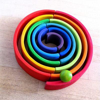 houten regenboog ballenbaan