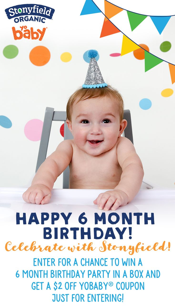 Yobaby 6 Month Birthday Party Sweepstakes Work From Home Moms