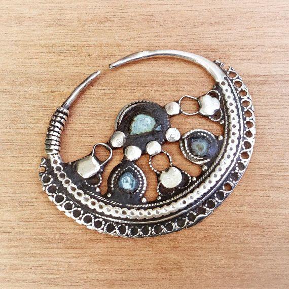 Lazo de oído o nariz antigua Pakistán - Pashtun nómadas joya de joyas - vintage étnicos pendientes - anticsethnics-
