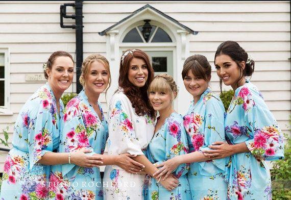 the best bridesmaid gifts cotton kimono robe monogrammed