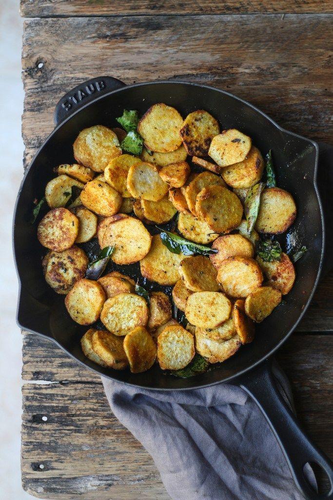 Taro/Arbi Spicy Stir Fry. A healthier alternative to potatoes.