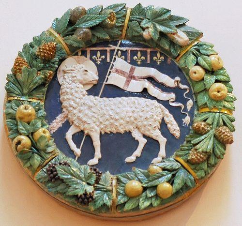 Stemma dell'Arte della Lana, 1487 - Della Robbia  #TuscanyAgriturismoGiratola
