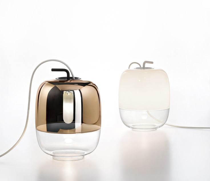 #Gong table lamp is the newest addition to the Gong series. Its modern shape, combined with the traditional use of glass, creates a timeless decorative object.