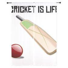 Cricket Is Life Curtains