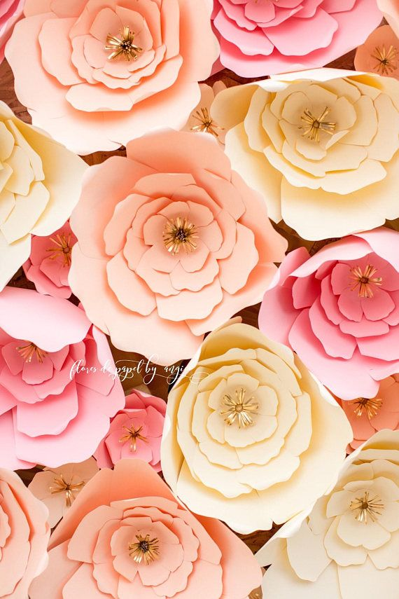 Backdrop Paper Flowers Flores De Papel How Stunning Is This