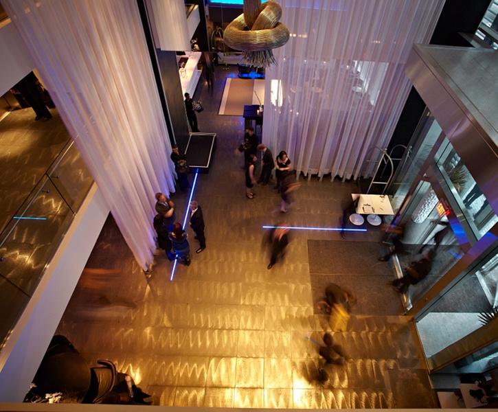 LEMAYMICHAUD | GERMAIN | Toronto | Maple Leaf Square | Architecture | Design | Hospitality | Hotel | Lobby |