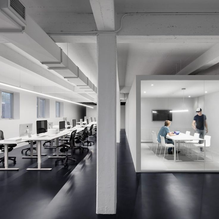 Interior Design Office Montreal: Anne Sophie Goneau Creates Stark Office For Digital Design