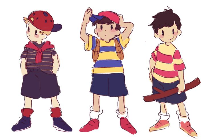 Lucas, Ninten and Ness clothes swap