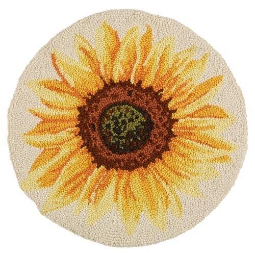 Sunflower Hooked Chair Pad | Sturbridge Yankee Workshop