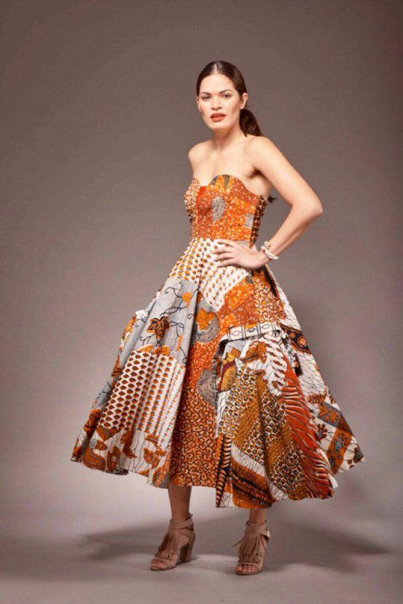 Vêtements tissu africain robe à imprimé africain par Sosomeshop