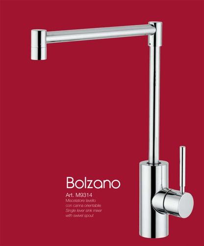 BOLZANO - CROMO miscelatore lavello con canna orientabile