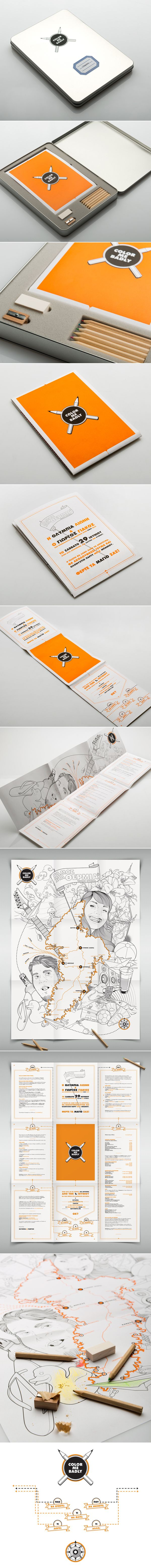 Color Me Badly Wedding Invitation.  The invitation for Olympia's and Yiorgos' wedding which took place on the island of Kythnos in Greece. #wedding_invitation #packaging #illustration #print_design #comeback_studio