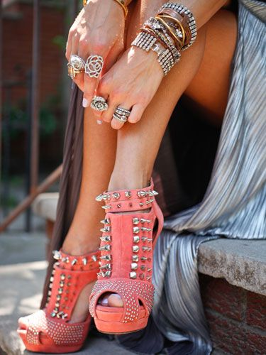 Hot dang: Studs, Fashion, Style, Closet, High Heels, Accessories, Shoes Shoes