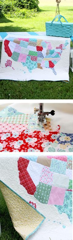 We are getting road trip ready with this U.S. lap quilt free tutorial and pattern from Flamingo Toes on fabric.com! Click for the pattern and instructions.