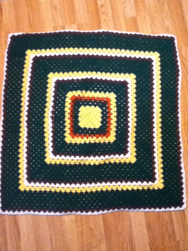 Crochet Pattern For John Deere Afghan : John Deere inspired baby blanket crochet. Simple granny ...