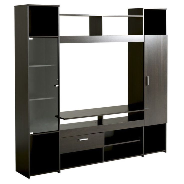 Wooden Television Stand 42 Inches Coffee Shelves Storage Living Room Furniture