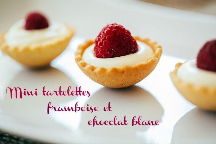 Mini tartelettes framboises chocolat blanc
